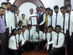 Ujire Sdm College Students Create Guinness World Record With Rubik S Cube
