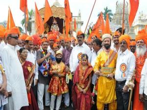 390th Chatrapati Shivaji Jayanthi Celebrated With Much Grandeur At Mysuru