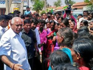 Congress Distributing Money In Police Vehicle Bs Yeddyurappa