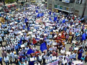 A Huge Protest In Bengaluru By Sc St