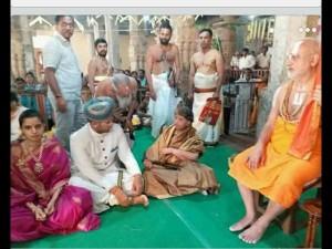 Yaduveer And Trishika Grace Religious Function At Sringapatna