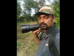 Elephant Panic By Camera Ran To Forest