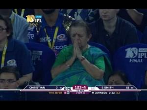 The Nani Who Prayed Mumbai Indians Win At Ipl 2017 Final