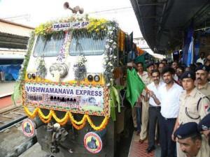 Suresh Prabhu Flags Off Mysuru To Hubballi Train Through Video Link From Delhi