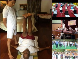 In Pics Political Leaders Participate International Yoga Day Celebrations