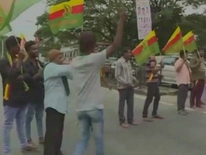 Protest Mandya Against Release Of Cauvery Water To Tamil Nadu