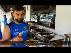 Virat Kohli Enjoys Delicious Chicken Curry During Practice Match In Sri Lanka