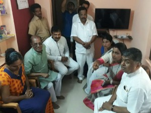 Bk Hariprasad Visits Kavya Poojary House In Mangaluru