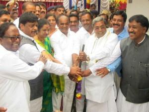 Cm Laid Found Stone For B Rachayya Memorial In Chamarajanagar