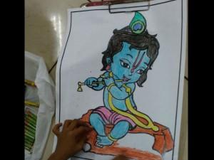 Over 2500 Children Participated In Sri Krishna Drawing Competition