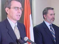 Geoff Pyatt and David Hopper(Left to right)