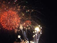 Fire work display at the Opening Ceremony of the 9th ICC World Cup 2007 in Jamaika