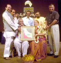 Master Hirannaiah and his wife felicitated in Bangalore