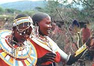 Masai wedding girl