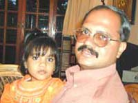 H. N. Sudhindra with his daughter