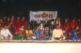 M.S.Sheela and team performing in Virginia