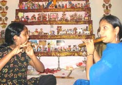 Seema Sindhu Playing Indian Flute