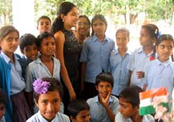 Sindhu With Kids in Mysore