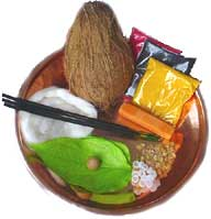 Coconut with tuft is an essential pooja item
